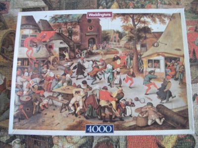 Image of the puzzle 4000, Waddingtons, Feast Day, by Pieter Bruegel the Elder, Picture of the box