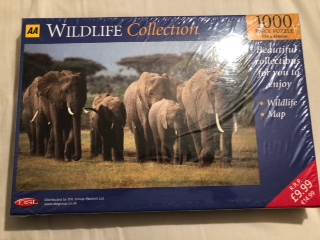 Image of the puzzle 1000, AA, African Elephants, Factory Sealed,