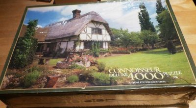 Image of the puzzle 4000, Arrow Connoisseur, Cottage and Garden, England, Factory Sealed, Listed by Cathy