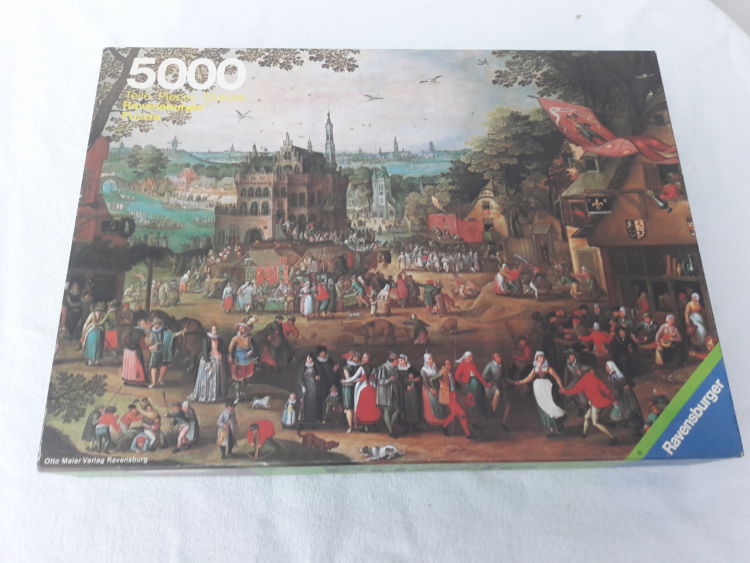 Image of the puzzle 5000, Ravensburger, Country Fair, by David Vinckboons, Sealed Bag, Picture of the box