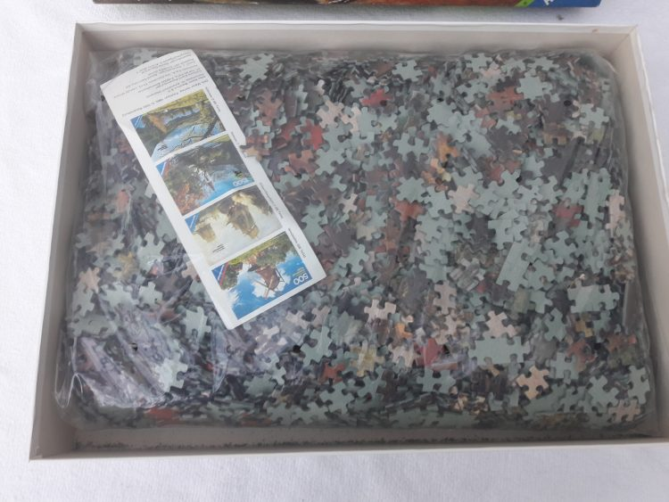 Image of the puzzle 5000, Ravensburger, Country Fair, by David Vinckboons, Sealed Bag, Picture of the bag
