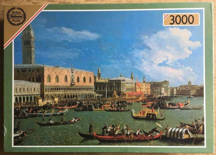 Image of the puzzle 3000, Falcon, Venice on Ascension Day, by Canaletto, Complete, Picture of the box