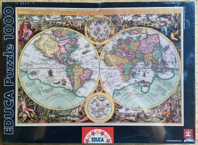 Image of the puzzle 1000, Educa, Ancient World Map, Factory Sealed