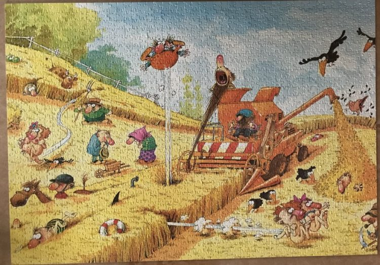 Image of the puzzle 1500, Heye, Summertime, by Jean-Jacques Loup, Picture of the puzzle assembled