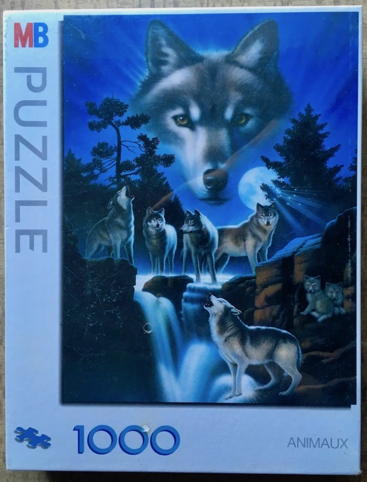 Image of the puzzle 1000, MB, Wolf, Unknown Artist, Factory Sealed