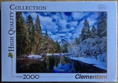 Image of the puzzle 2000, Clementoni, Winter Reflection, Yosemite National Park, Factory Sealed