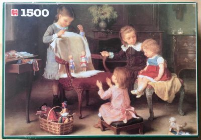 Image of the puzzle 1500, Jumbo, Happy Family, by André Henri Dargelas, Picture of the box