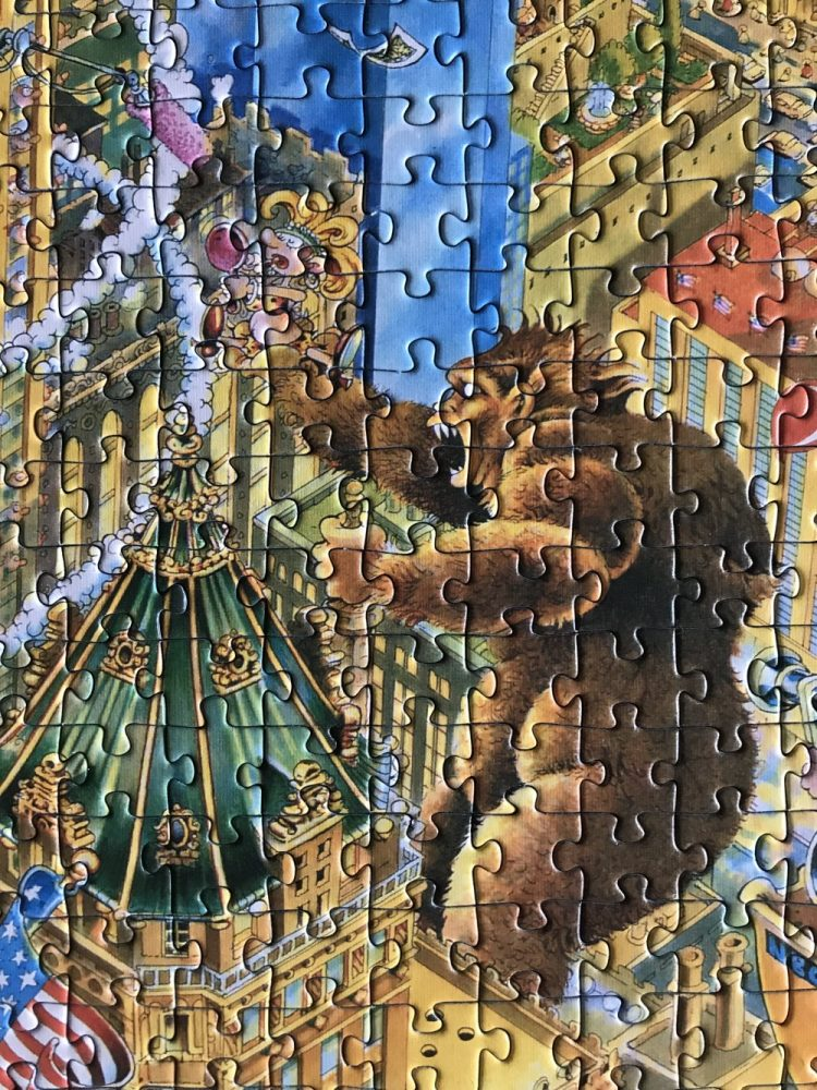 Image of the puzzle 1000, Heye, Manhattan, by Michael Ryba, Detail of the puzzle