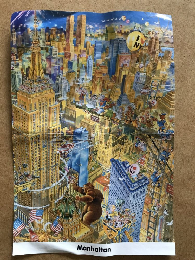Image of the puzzle 1000, Heye, Manhattan, by Michael Ryba, Picture of the poster