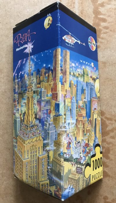 Image of the puzzle 1000, Heye, Manhattan, by Michael Ryba, Picture of the box