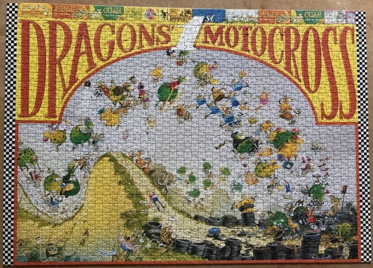 Image of the puzzle 1500, Heye, Dragons Motocross, Marino Degano, Complete, Picture of the puzzle assembled