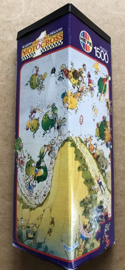 Image of the puzzle 1500, Heye, Dragons Motocross, Marino Degano, Complete, Picture of the box