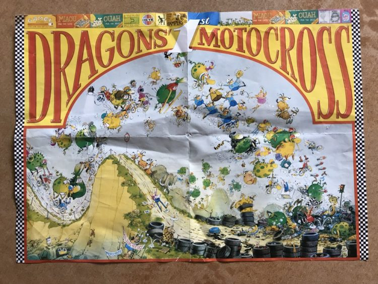 Image of the puzzle 1500, Heye, Dragons Motocross, Marino Degano, Complete, Picture of the poster