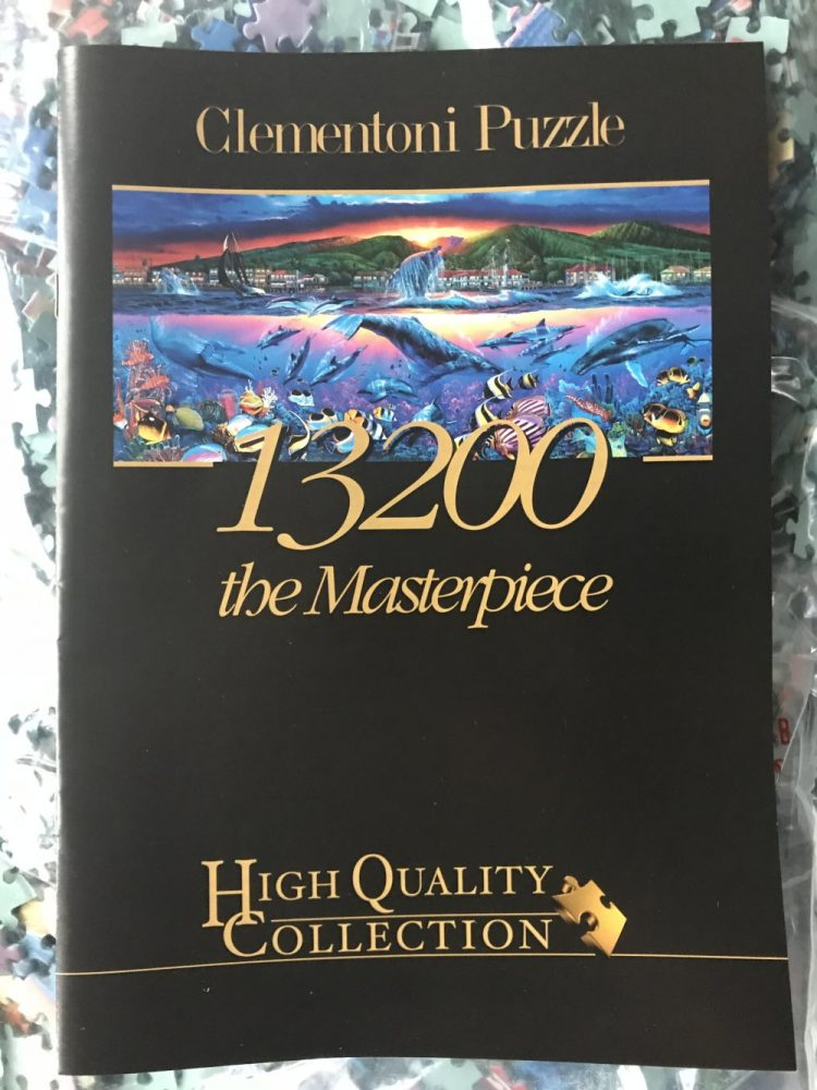 Image of the puzzle 13200, Clementoni, Lahaina Visions, by Christian Riese Lassen, Sealed Bag, Picture of the booklet