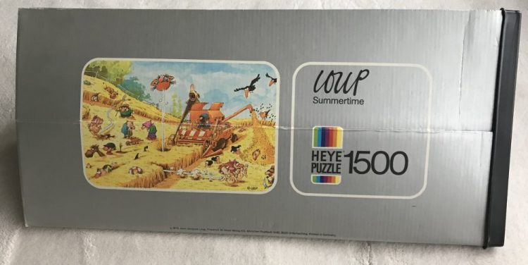 Image of the puzzle 1500, Heye, Summertime, by Jean-Jacques Loup, Picture of the box