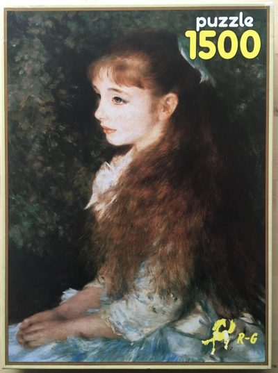 Image of the puzzle 1500, R-G, Portrait of Mademoiselle Irene Cahen d'Anvers, by Renoir, Sealed Bag, Picture of the box