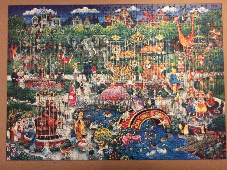 Image of the puzzle 1000, WHSmith, The Victorian Zoo, by Bill Bell, Complete, Picture of the puzzle