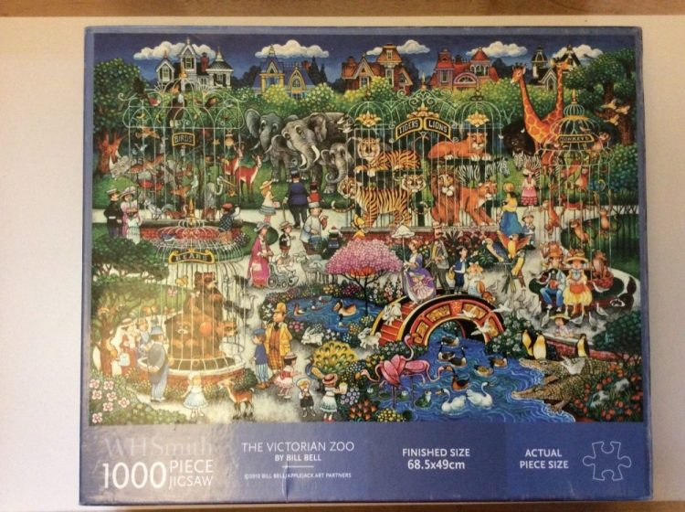 Image of the puzzle 1000, WHSmith, The Victorian Zoo, by Bill Bell, Complete, Picture of the box