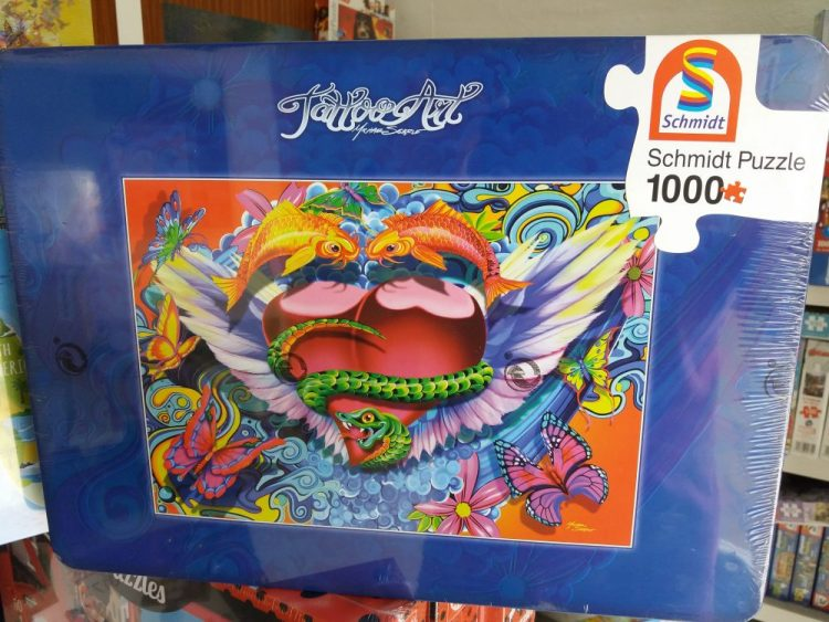 Image of the puzzle 1000, Schmidt, Fantasy, Michael Searle (Metal Box), Factory Sealed