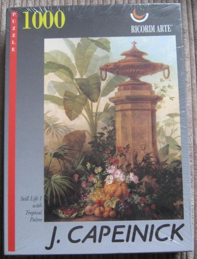 Image of the puzzle 1000, Ricordi, Still Life I with Tropical Palms, by Jean Capeinick, Factory Sealed