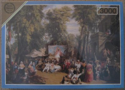 Image of the puzzle 3000, Falcon, Fair in the Champs-Élysées, William Parrott, Picture of the box
