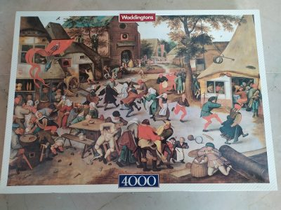 Image of the puzzle 4000, Waddingtons, Feast Day, by Pieter Bruegel the Elder, Sealed Bag, Picture of the box
