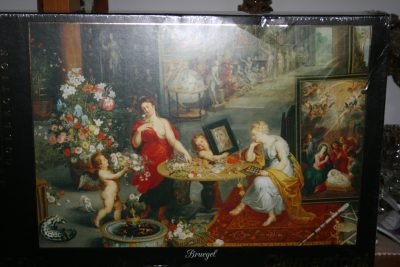 Image of the puzzle 6000, Clementoni, Allegory of Sight and Smell, by Jan Brueghel the Elder, Factory Sealed, Listed by Cathy
