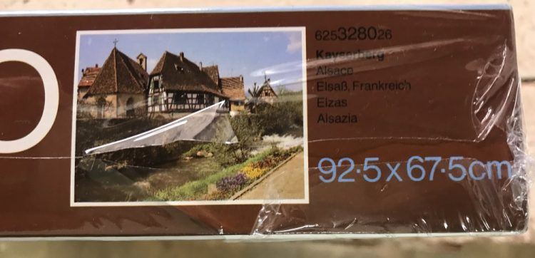 Image of the puzzle 2000, MB, Kayserberg, Alsace, Factory Sealed, Picture of the side