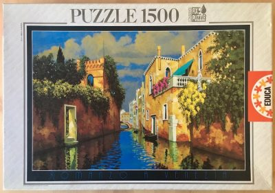 Image of the puzzle 1500, Educa, Romance of Venice, by Lucio Sollazzi, Complete, Picture of the box