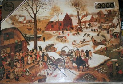 Image of the puzzle 3000, Falcon, Payment of Tax at Bethlehem, by Pieter Brueghel the Younger, Picture of the box