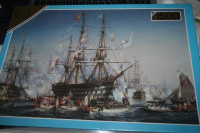 Image of the puzzle 1500, Falcon, Napoleon III Receiving Queen Victoria at Cherbourg, by Jules Aquille Noël, Factory Sealed