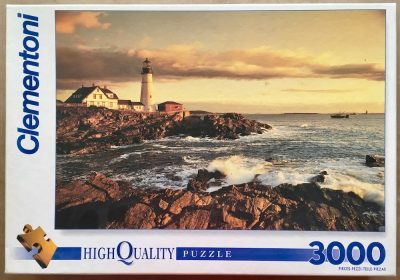 Image of the puzzle 3000, Clementoni, Sunset on the Coast (Donation), Sealed Bag, Picture of the box