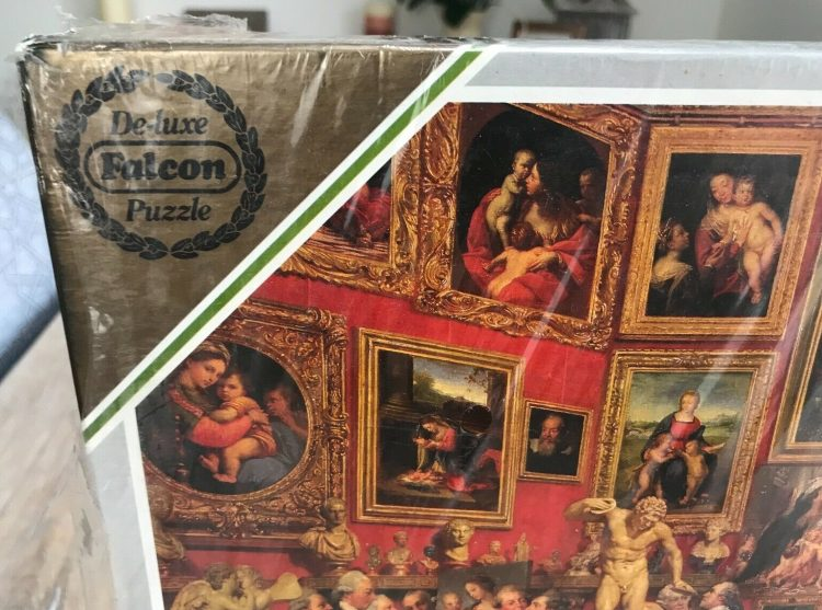 Image of the puzzle 3000, Falcon, The Tribuna of the Uffizi, by Johan Zoffany, Factory Sealed, Picture of the corner