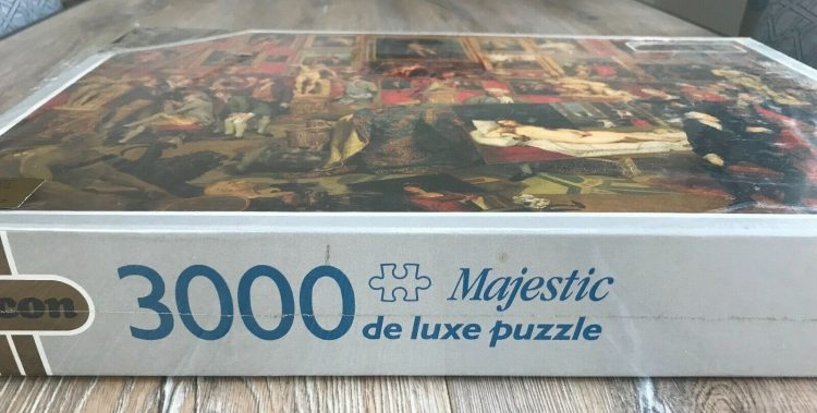 Image of the puzzle 3000, Falcon, The Tribuna of the Uffizi, by Johan Zoffany, Factory Sealed, Picture of the side
