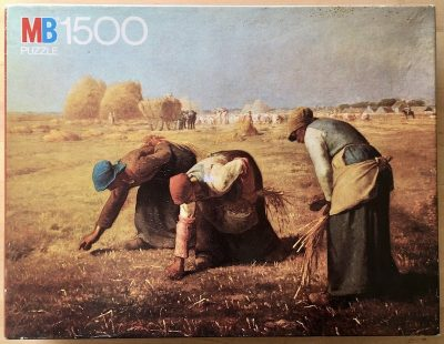 Image of the puzzle 1500, MB, The Gleaners, by Jean-François Millet, Sealed Bag, Picture of the box