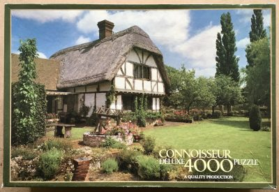 Image of the puzzle 4000, Arrow Connoisseur, Cottage and Garden, England, Sealed Bag, Picture of the box