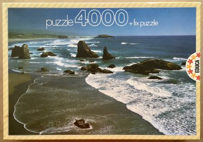 Image of the puzzle 4000, Educa, Oregon, USA, Sealed Bag, Picture of the box