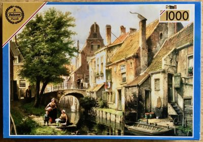 Image of the puzzle 1000, Falcon, Beside the Canal, byWillem Koekkoek, Picture of the box