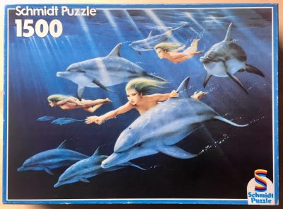 Image of the puzzle 1500, Schmidt, Underwater Games, by Chris Meiklejohn, Picture of the box