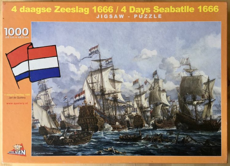 Image of the puzzle 1000, Puzzelman, Four Days Sea Battle 1666, by Jan de Quelery, Picture of the box