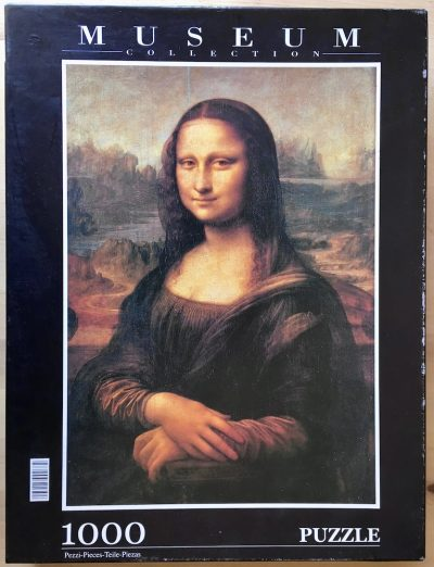 Image of the puzzle 1000, Clementoni, La Gioconda, by Leonardo da Vinci, Picture of the box