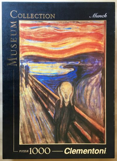 Image of the puzzle 1000, Clementoni, The Scream, by Edvard Munch, Picture of the box