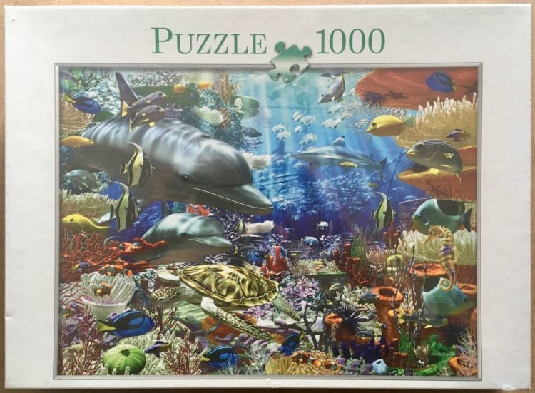 Image of the puzzle 1000, Bookmark Verlag, Underwater World, by David Penfound, Factory Sealed