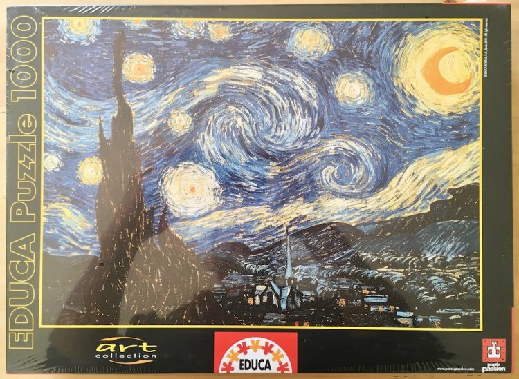Image of the puzzle 1000, Educa, Starry Night, by Vincent van Gogh