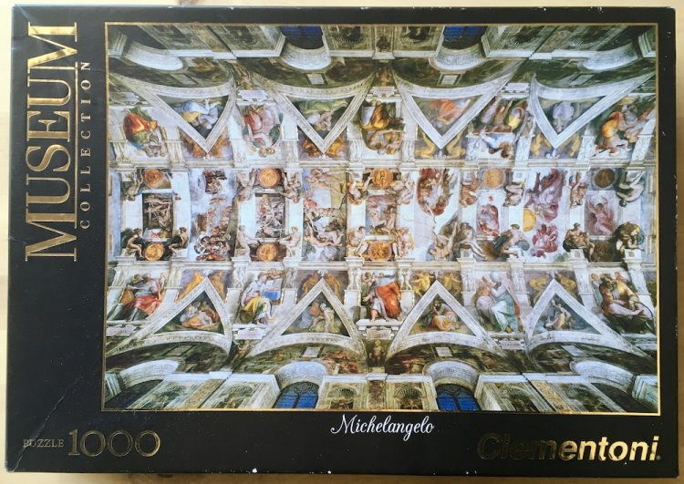 Image of the puzzle 1000, Clementoni, Universal Judgement, by Michelangelo, Picture of the box
