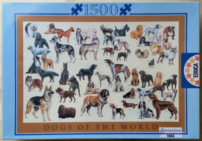 Image of the puzzle1500, Educa, Dogs of the World, Factory Sealed