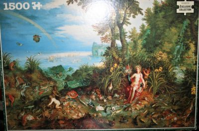 Image of the puzzle 1500, WHSmith, The Elements: Water, by Jan Brueghel the Elder, Complete, Picture of the box