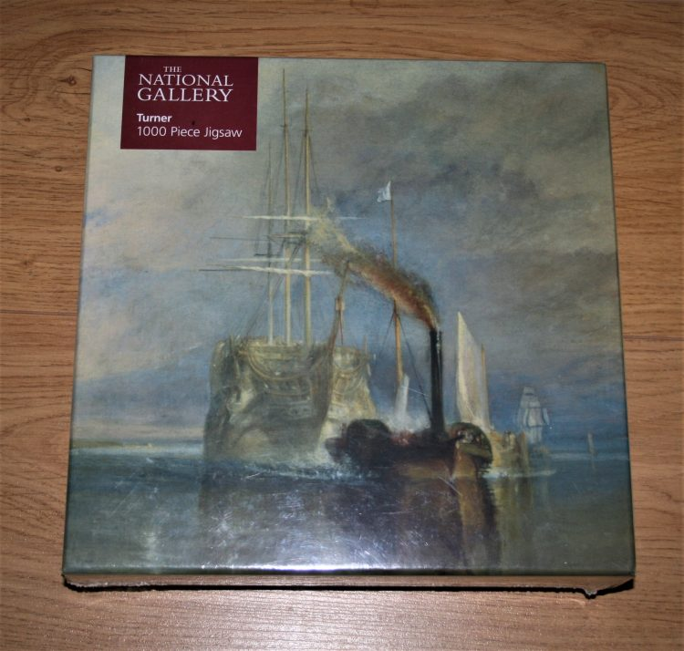 Image of the puzzle 1000, Flame Tree, The Fighting Temeraire, by Turner, Factory Sealed