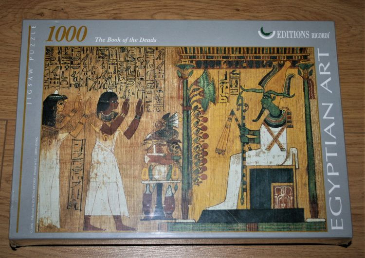 Image of the puzzle 1000, Ricordi, The Book of the Dead, Egyptian Art, Factory Sealed