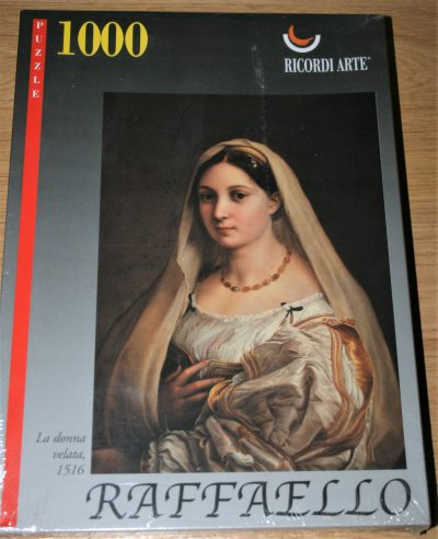 Image of the puzzle 1000, Ricordi, La Donna Velata, by Raphael, Factory Sealed, Listed by Cathy